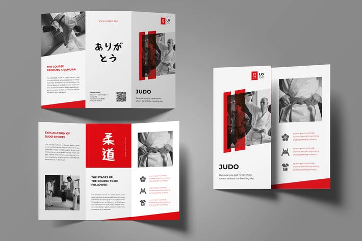 Thumbnail for Judo Martial Trifold Brochure