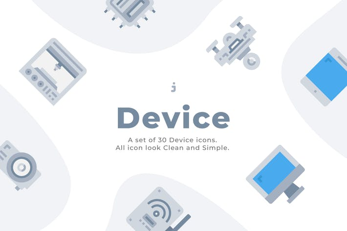 Thumbnail for 30 Device and Technology Icons - Flat