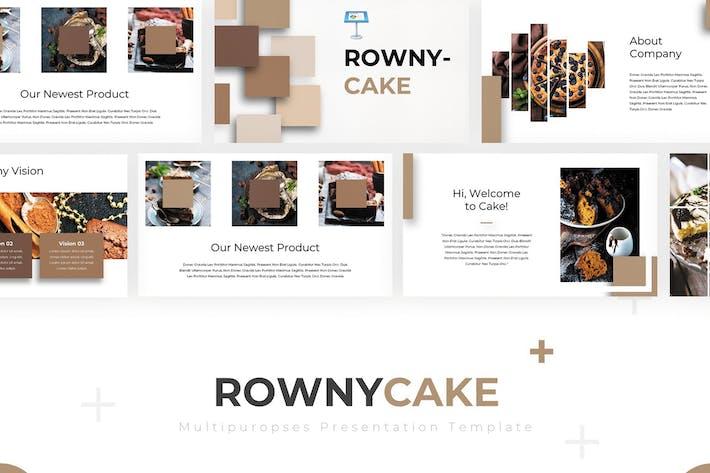 Thumbnail for Rowny Cake - Шаблон Keynote
