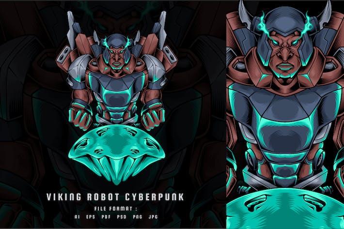Viking Robot Cyberpunk