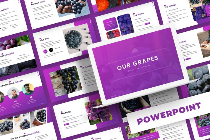 Thumbnail for Grapes - Powerpoint Template