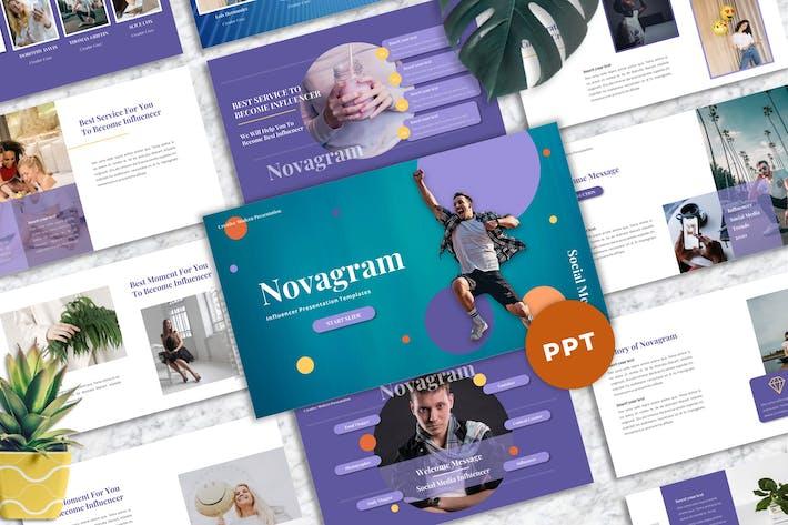Thumbnail for Novagram - Influencer Powerpoint Templates