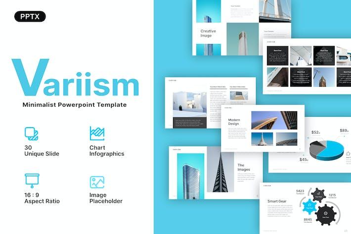 Thumbnail for Variism Minimalist Powerpoint Template