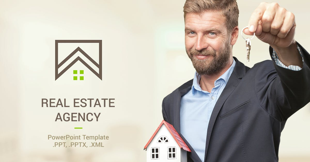 Download Real Estate PowerPoint Template by Site2max