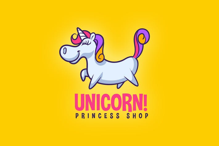 Thumbnail for Cartoon Cute Unicorn Mascot Logo