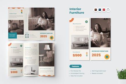 Interior Furniture Trifold Brochure