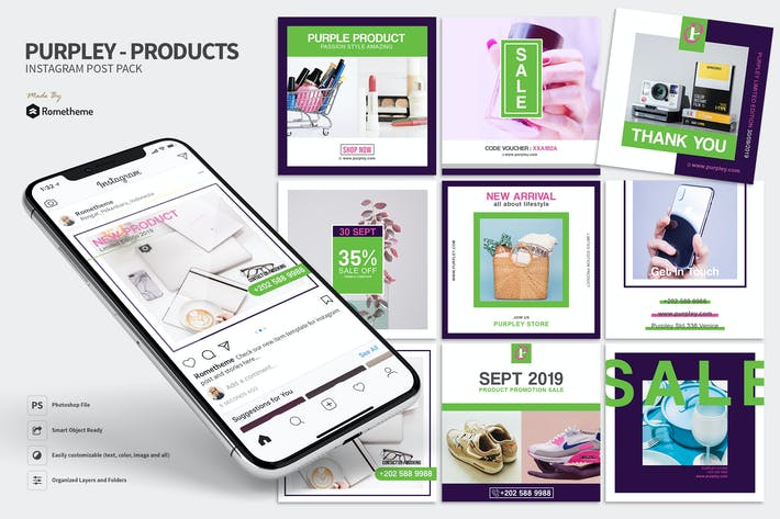 Thumbnail for Purpley - Modern Product Instagram HR