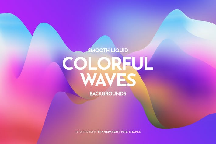 Thumbnail for Colorful Liquid Waves Backgrounds