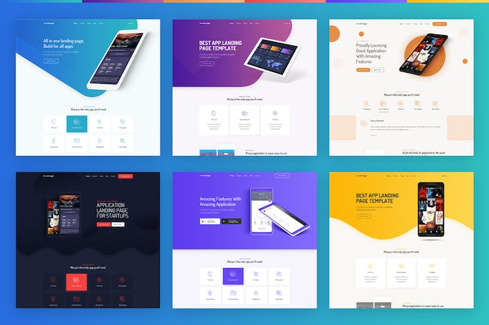 Thumbnail for Mixup - App Landing Page PSD Template