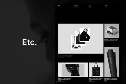 Etc. - Creative Portfolio WordPress Theme