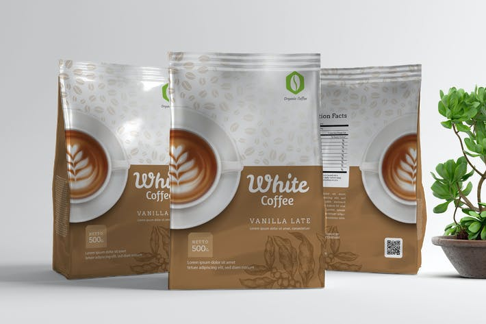 Thumbnail for Coffee Pouch Packaging Template V2