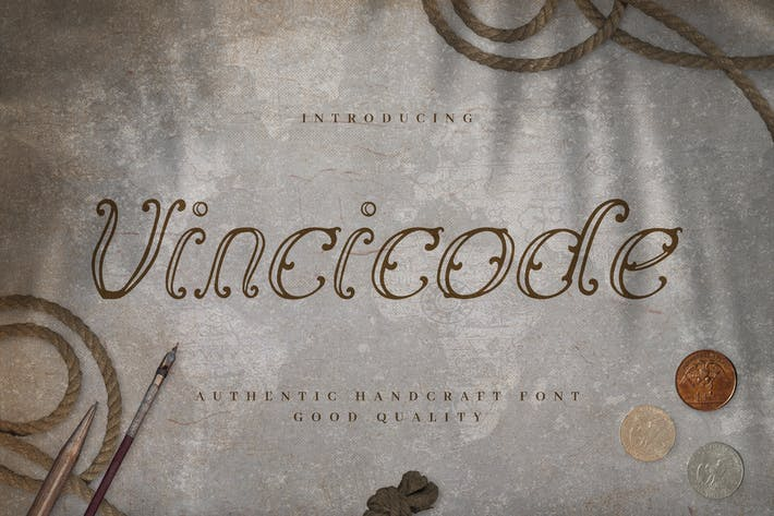 Thumbnail for Vincicode - Elegante guión vintage
