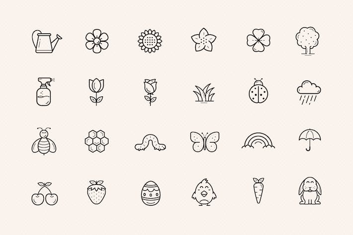 Thumbnail for Flowers and Spring icons
