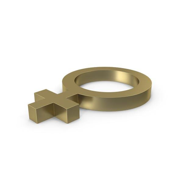 Thumbnail for Female Gender Symbol Side Gold