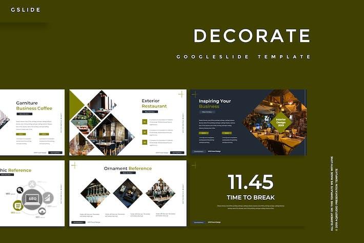 Decorate - Google Slides Template