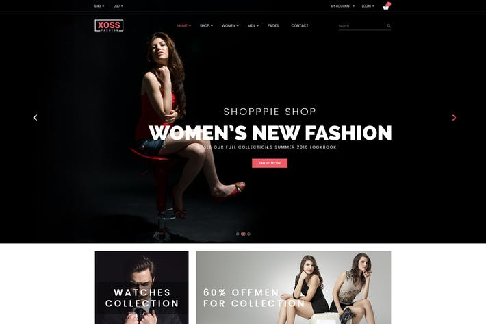 Cover Image For XOSS - eCommerce psd Template