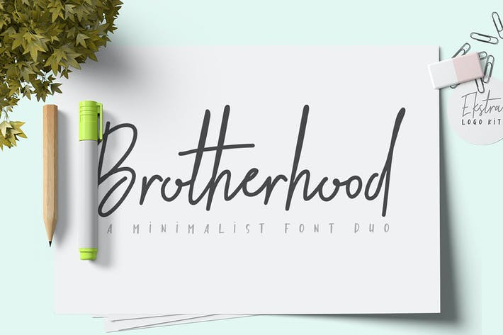 Thumbnail for Brotherhood Font Duo + Ekstra