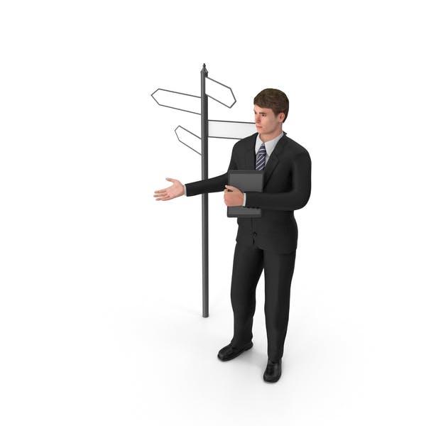Thumbnail for Businessman John At Crossroads