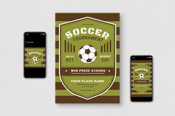 Thumbnail for Soccer Tournament Flyer Set