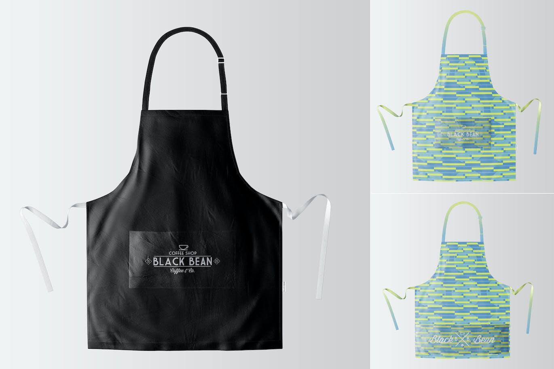 White apron mockup - Restaurant And Home Kietchen Apron Mockup 07