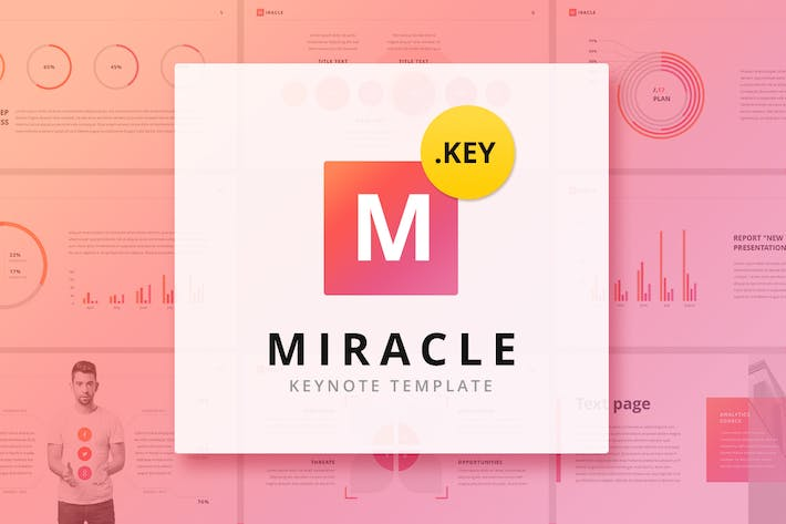 Thumbnail for Miracle Modern Keynote Template