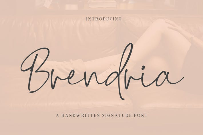 Thumbnail for Brendria - Signature Font YR