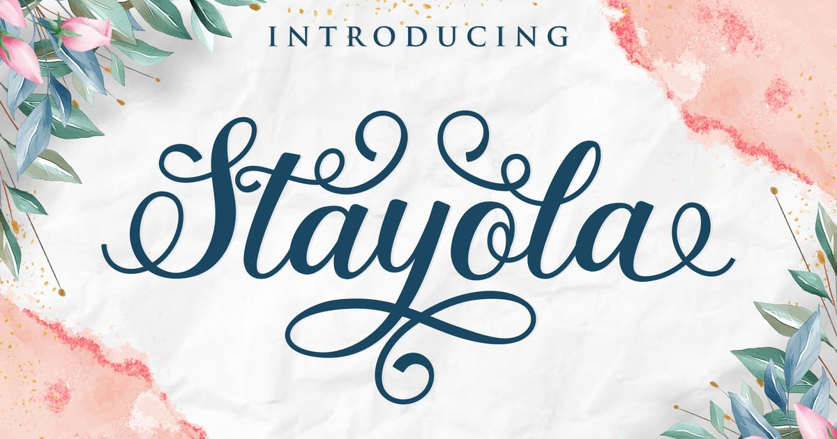 Download Stayola Decorative Script Font by blunesia