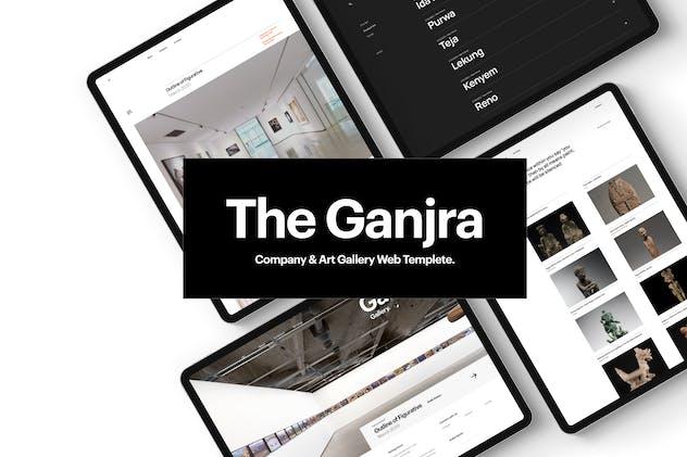 The Ganjra - Company Art Gallery Web Template