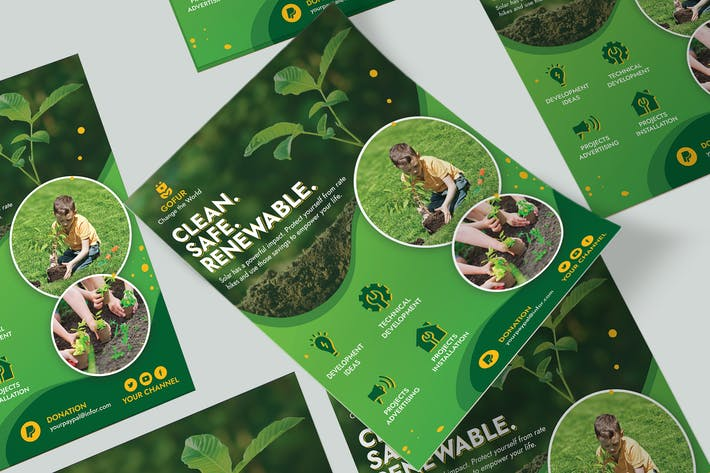 Thumbnail for Green Energy Flyer & quadratischer Flyer