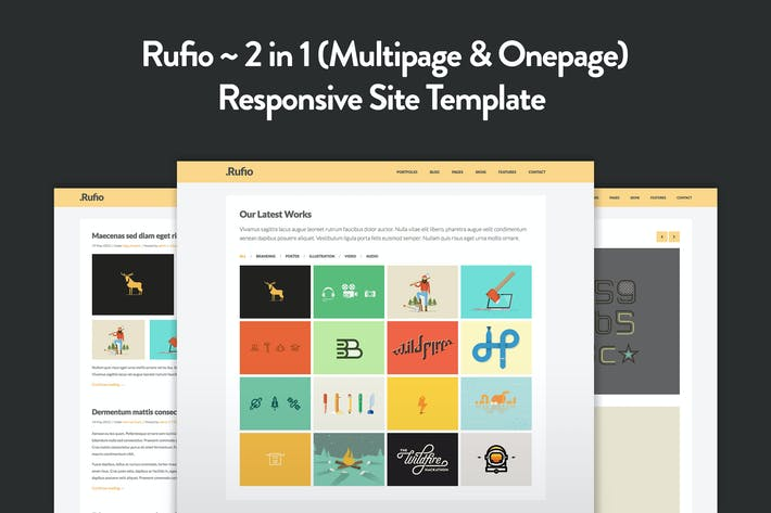 Thumbnail for Rufio - 2 in 1 Responsive HTML5 Template