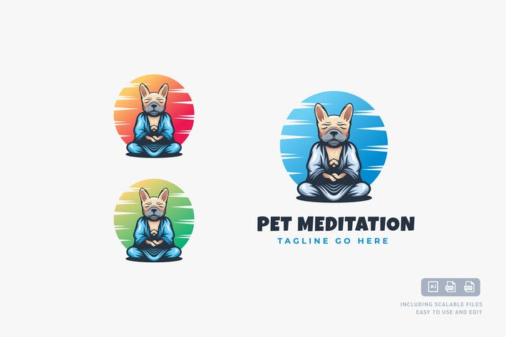 Thumbnail for Pet Meditation - Logo Design Template