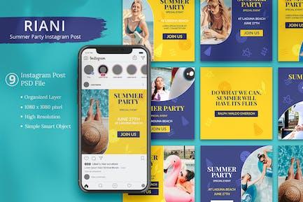 Riani - Instagram-Beitrag für die Sommerparty
