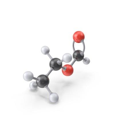 Ethylformat-Molekül