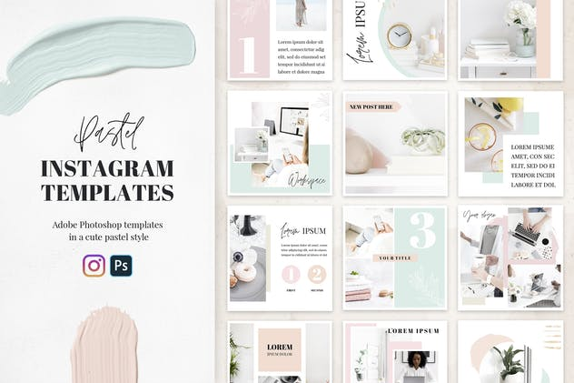 20 Pastel Instagram Templates