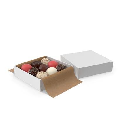 Square Box with Chocolates