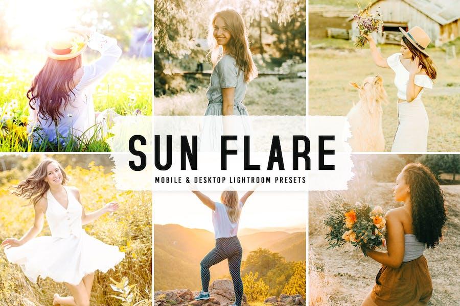 Sun Flare Mobile & Desktop Lightroom Presets V2