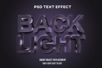 Backlight text effect