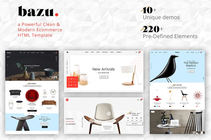 Thumbnail for Bazu - Modern and Clean eCommerce HTML Template
