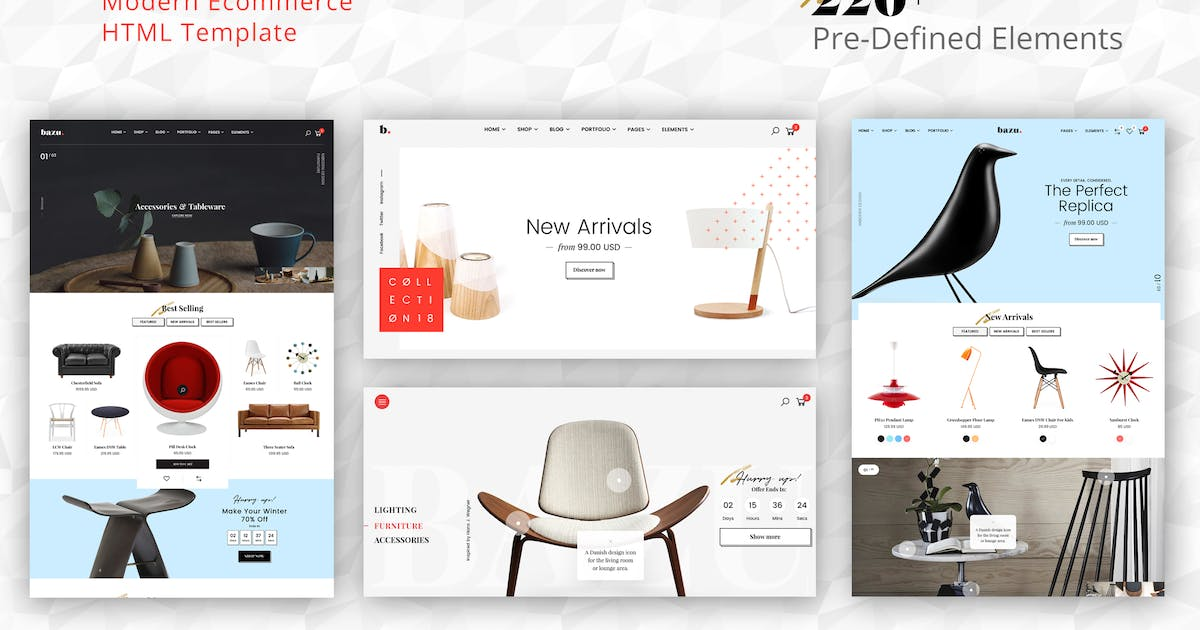 Download Bazu - Modern and Clean eCommerce HTML Template by SteelThemes