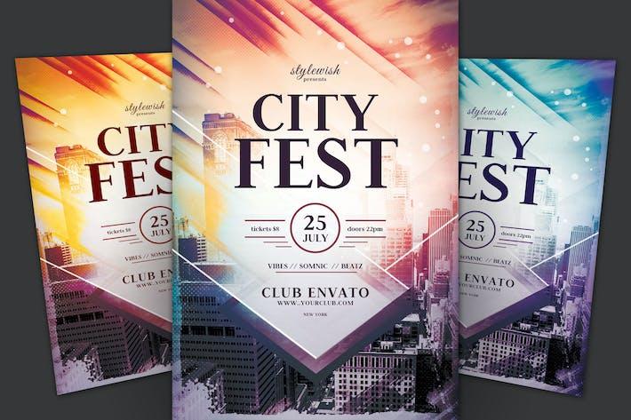 Thumbnail for City Fest Flyer