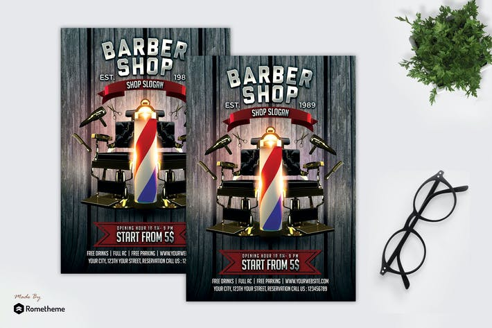 Cover Image For Barbershop dépliant MR