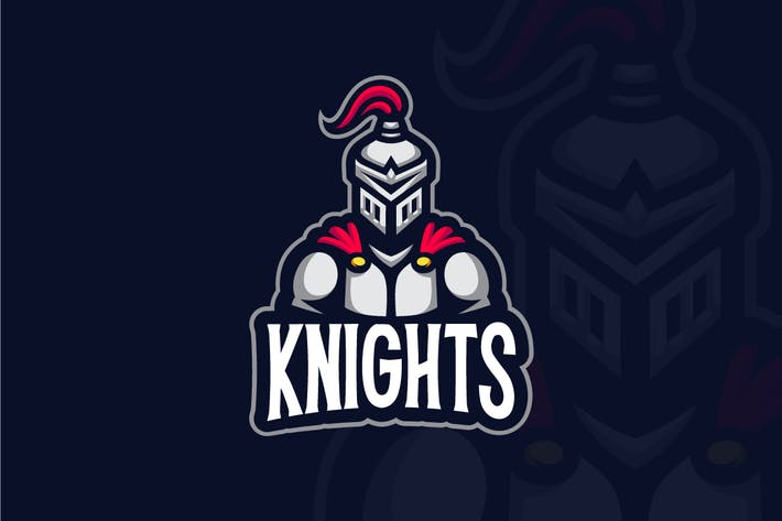 Thumbnail for Knight Mascot Logo