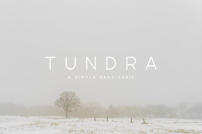 Thumbnail for Tundra Typeface