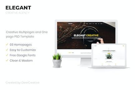 ELEGANT | Creative Agency PSD Template
