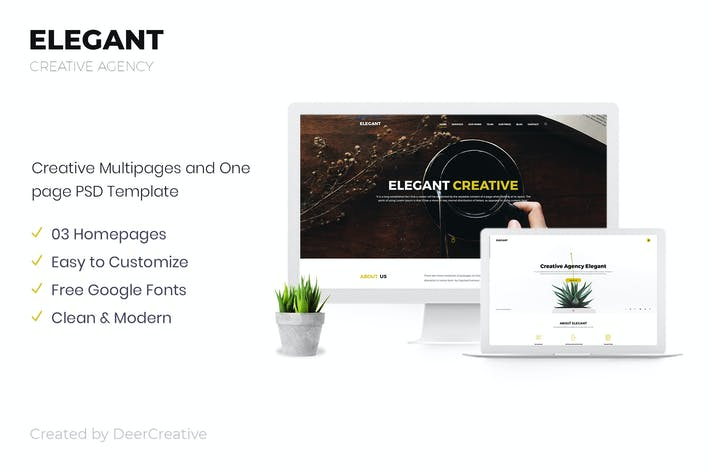 Thumbnail for ELEGANT | Creative Agency PSD Template