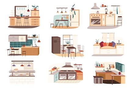 Verschiedene Küchenset Einzelelemente