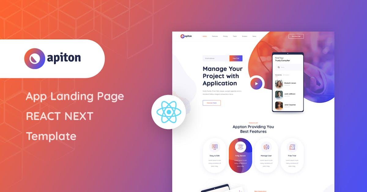 Download Apiton - React Next App Landing Page Template by Layerdrops