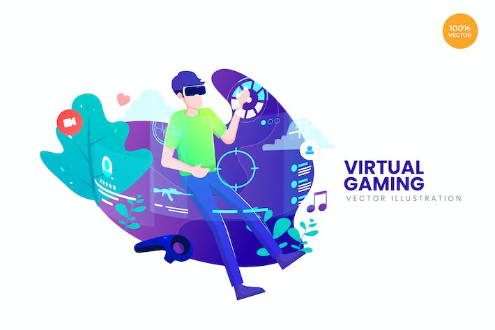 Thumbnail for Virtual Gaming Vector Illustration Concept