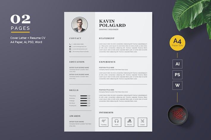 Thumbnail for Clean CV/Modèle CV
