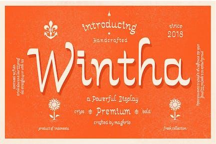 Wintha Tipo de letra